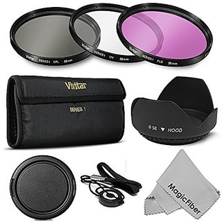 58MM Professional Lens Filter Accessory Kit for CANON EOS Rebel T5i T4i T3i T3 T2i T1i XT XTi XSi SL1 DSLR Cameras - Inc