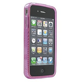 Ziotek ZT2150865 HC1 iPhone 4 Transparent TPU Case, Vertigo, Pink