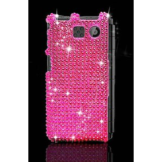 Eagle Cell PDSY6780F04 RingBling Brilliant Diamond Case for Sanyo Innuendo 6780 - Retail Packaging - Hot Pink