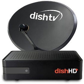Dishtv HD+ connection with 1 month Titanium Pack FREE worth 755 rs