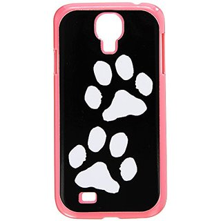 Graphics and More Paw Prints Black White Snap-On Hard Protective Case for Samsung Galaxy S4 - Non-Retail Packaging - Pin
