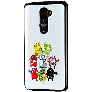 LG G2 Case, Cruzerlite Print Case (PC Case) Compatible for LG G2 ( AT&T Sprint TMobile ) - GOGO White