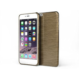 Glossy Outer Brushed Ultra Soft TPU Protective Case Iphone 6 (Gold)
