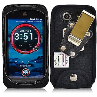 Turtleback Kyocera DuraForce Phone Fitted Case (Black Nylon / Metal Rotating Clip)