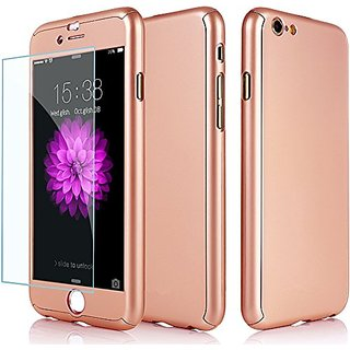 Owoda iPhone 6 6s Case Ultra Thin Full Body Protective Cover 360 All Round Hard Case with Tempered Glass Screen Protecto