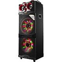 "QFX PBX 515200BTL RED Portable Bluetooth 2/15"" Speaker With Led Light Show, Red"