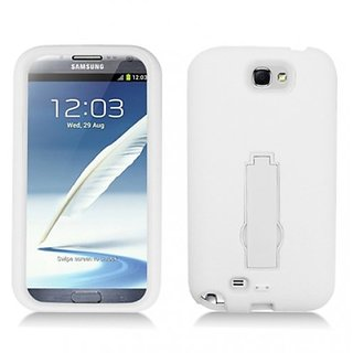 Aimo Wireless SAMNOTE2PCMX008S Guerilla Armor Hybrid Case with Kickstand for Samsung Galaxy Note 2 N7100 - Retail Packag
