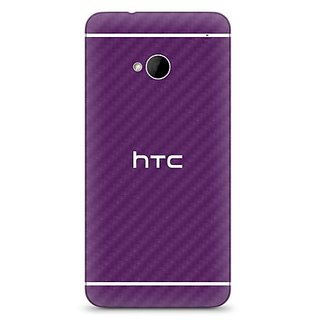 Slickwraps Carbon Fiber Skin for HTC One - Retail Packaging - Purple Carbon Fiber