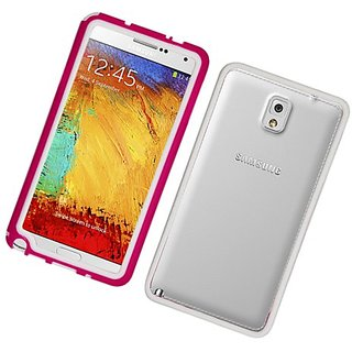Eagle Cell Bumper Case for Samsung Galaxy Note 3 - Retail Packaging - White/Hot Pink