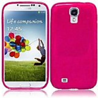 HR Wireless TPU Protective Cover for Samsung Galaxy S4 - Retail Packaging - Hot Pink