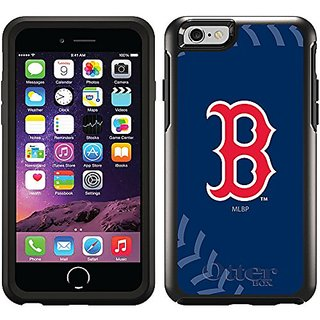 Coveroo Cell Phone Case for iPhone 6 - Retail Packaging - Black/Boston Red Sox Stitch Design