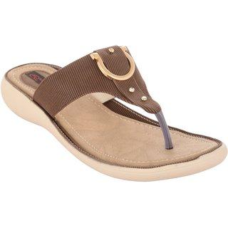 Exotique Women's Brown Fashion Slip-on (EL0058BR)