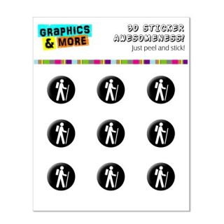 Graphics and More Hike Hiking Symbol Home Button Stickers Fits Apple iPhone 4/4S/5/5C/5S, iPad, iPod Touch - Non-Retail
