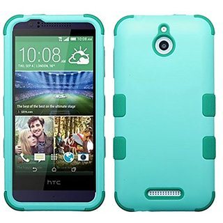 MyBat HTC 510 (Desire 510) TUFF Hybrid Phone Protector Cover - Retail Packaging - Green