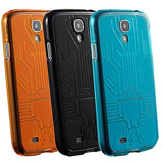 Samsung Galaxy S4 Case, Cruzerlite Bugdroid Circuit Bundles of 3 TPU Cases Compatible for Samsung Galaxy S4 - Teal/Black