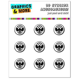Graphics and More Double Eagle Home Button Stickers Fits Apple iPhone 4/4S/5/5C/5S, iPad, iPod Touch - Non-Retail Packag