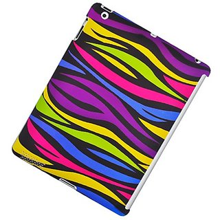 Eagle Cell PIIPAD3R159 Stylish Hard Snap-On Protective Case for iPad 3 - Retail Packaging - Rainbow Zebra