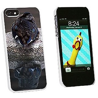 Graphics and More Female Mandarin Duck Snap-On Hard Protective Case for iPhone 5/5s - Non-Retail Packaging - White