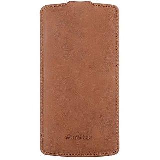 Melkco - Premium Leather Case for Google Nexus 5 - Jacka Type - (Classic Vintage Brown) - LGNEX5LCJT1BNCV