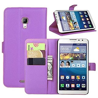 Huawei Mate 2 Case - Flip Pu Leather Wallet Case Holder Cover with Stand / Slots Card for Huawei Mate 2 (Wallet Purple)