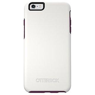 NEW OtterBox SYMMETRY Series iPhone 6 Plus/6s Plus Case - Retail Packaging - FROZEN PLUM (WHITE/DAMSON PURPLE)
