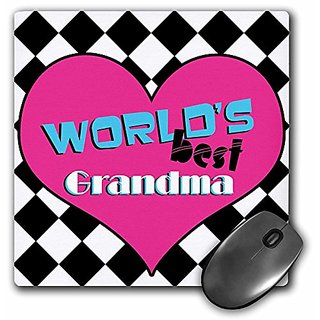 3dRose LLC 8 x 8 x 0.25 Inches Worlds Best Grandma Mouse Pad (mp_10843_1)