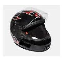 Stylish Black Full Face helmet with ISI Mark