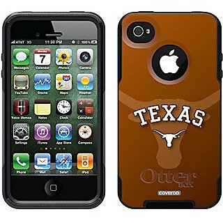 Coveroo University of Texas Watermark Design Phone Case for iPhone 4s/4 - Retail Packaging - Black