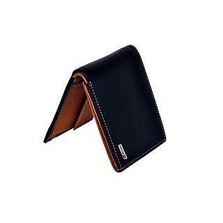 Men Casual, Formal Tan, Black Genuine Leather Wallet