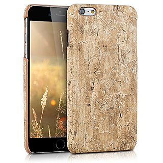 kwmobile Hard case Design vintage wood for Apple iPhone 6 Plus / 6S Plus in light brown