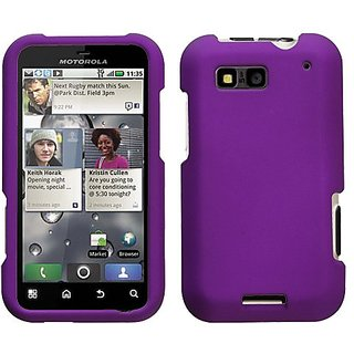 MyBat Motorola MB525 Defy Grape Rubberized Phone Protector Cover - Retail Packaging - Purple