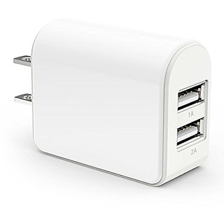 Wall Charger, Zeavou 15W / 3.1A Dual Port USB Charger for Apple iPhone, iPad Air Mini, iPod, Sumsung Galaxy, Google Nexu