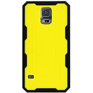 Reiko Protector Cover TPU and PC with Transformer Design Samsung Galaxy S5 - Retail Packaging - Yellow/Black