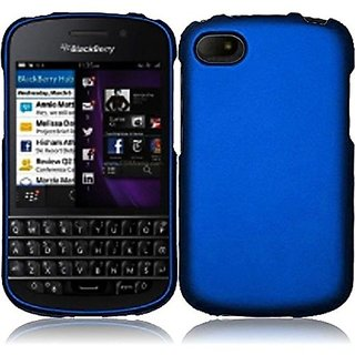 HR Wireless Blackberry Q10 Rubberized Protective Cover - Retail Packaging - Blue