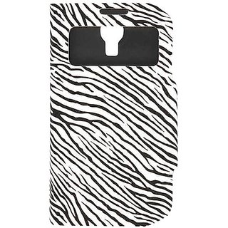 Cell Armor S4 Hybrid Novelty Case for Samsung Galaxy - Retail Packaging - Black and White Zebra