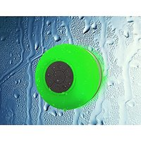 FULiYEAR Waterproof Bluetooth Shower Speakers With Suction Cup & Mic Handsfree For Phone Call Green