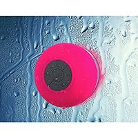 Foolly Waterproof Bluetooth Shower Speakers With Suction Cup & Mic Handsfree For Phone Call Pink