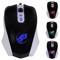 NiceEshop(TM) 3200DPI 2.4GHz Wired USB Optical Gaming Mouse Mice With LED Light (Black)
