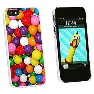 Graphics and More Gumballs Candy Snap-On Hard Protective Case for iPhone 5/5s - Non-Retail Packaging - White