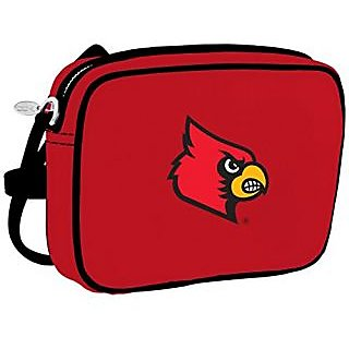 Charm 14 Cross Body Purse with Touchscreen for all Smartphones - Retail Packaging - Louisville Cardinals