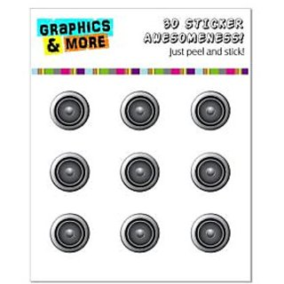 Graphics and More Speaker Music Home Button Stickers Fits Apple iPhone 4/4S/5/5C/5S, iPad, iPod Touch - Non-Retail Packa