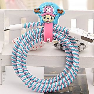 Tospania DIY Cartoon Style Spiral Wire Protectors/Cable Wrap/Wire Organizer/Cord Manager for Apple Lightning Cables/Sams