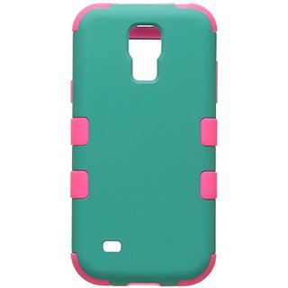 MYBAT TUFF Hybrid Phone Protector Cover for Samsung Galaxy S4 Mini - Retail-Packaging - Rubberized Teal Green/...