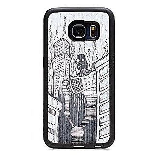 CARVED Cell Phone Case for Galaxy 6 Edge - Retail Packaging - Rbt Doom Agwn