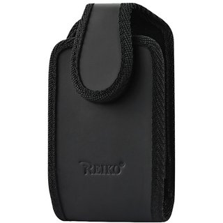 Reiko Vertical Pouch with 360-Degree Rotate Belt Clip for SAMSUNG GALAXY S4 - Retail Packaging - Black