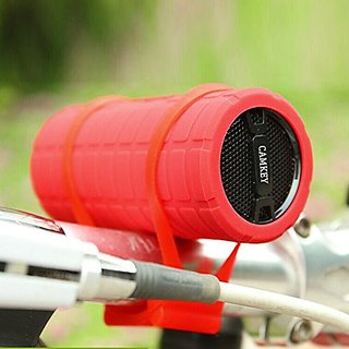 Camkey Upgrade Version Super Shockproof Waterproof Sport Hi-fi Bass Wireless Portable Bluetooth Speaker Stereo Red