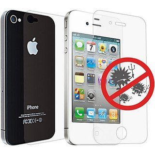Ozaki IC871 iCoat Screen Protection for iPhone 4/4S - 1 Pack - Retail Packaging - Antibacterial