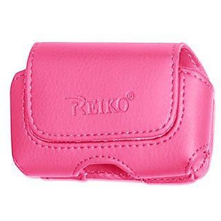 Reiko Horizontal Premium Protective Carrying Pouch - Retail Packaging - Pink