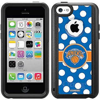 Coveroo New York Knicks Polka Dots Design Phone Case for iPhone 5c - Retail Packaging - Black/Black