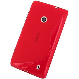 JUJEO 2108056011 Soft Cover for Nokia Lumia 520 - Wave - Non-Retail Packaging - Red